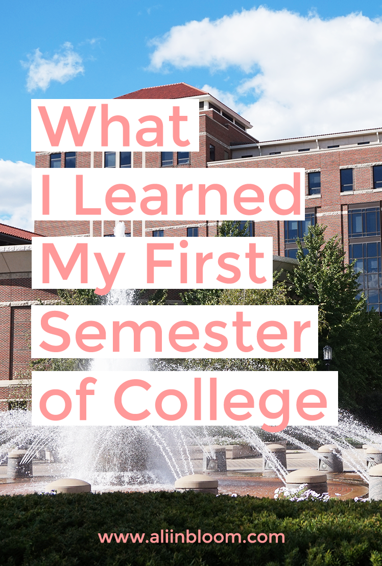 10 Things I Learned My First Semester of College | What I realized my first semester of college.