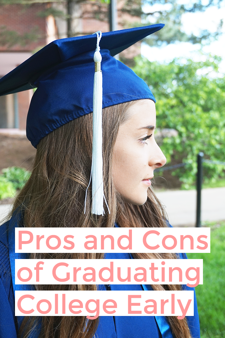 Graduating college early isn't for everyone. There is a long list of pros and cons of graduating college early to consider before leaving school too soon.