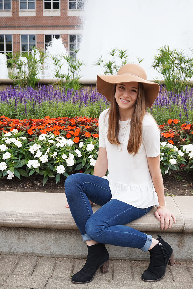 Fall outfit - floppy hat