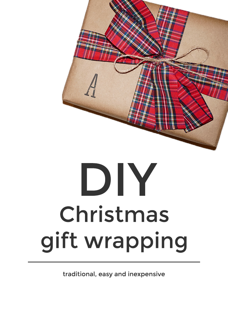 DIY Christmas Gift Wrapping - Brown Paper Shabby Chic