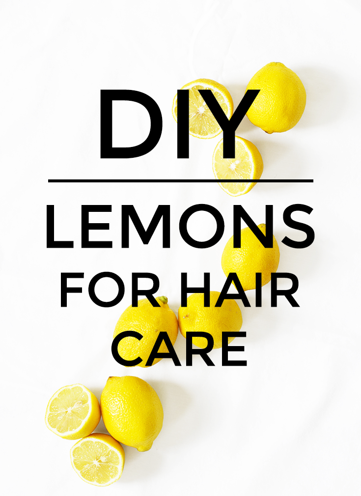 Lemons for Hair Care - Lemons can be used for hair care for almost everything- dandruff, growing, adding volume, straightening, removing build up, revitalizing, or bleaching.