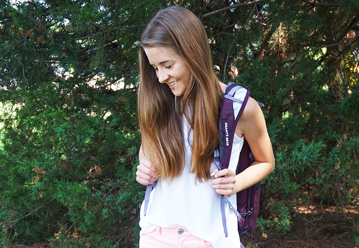 My first day of class college outfit with everything from shoes to backpack- including my favorite college style bloggers for more inspiration.