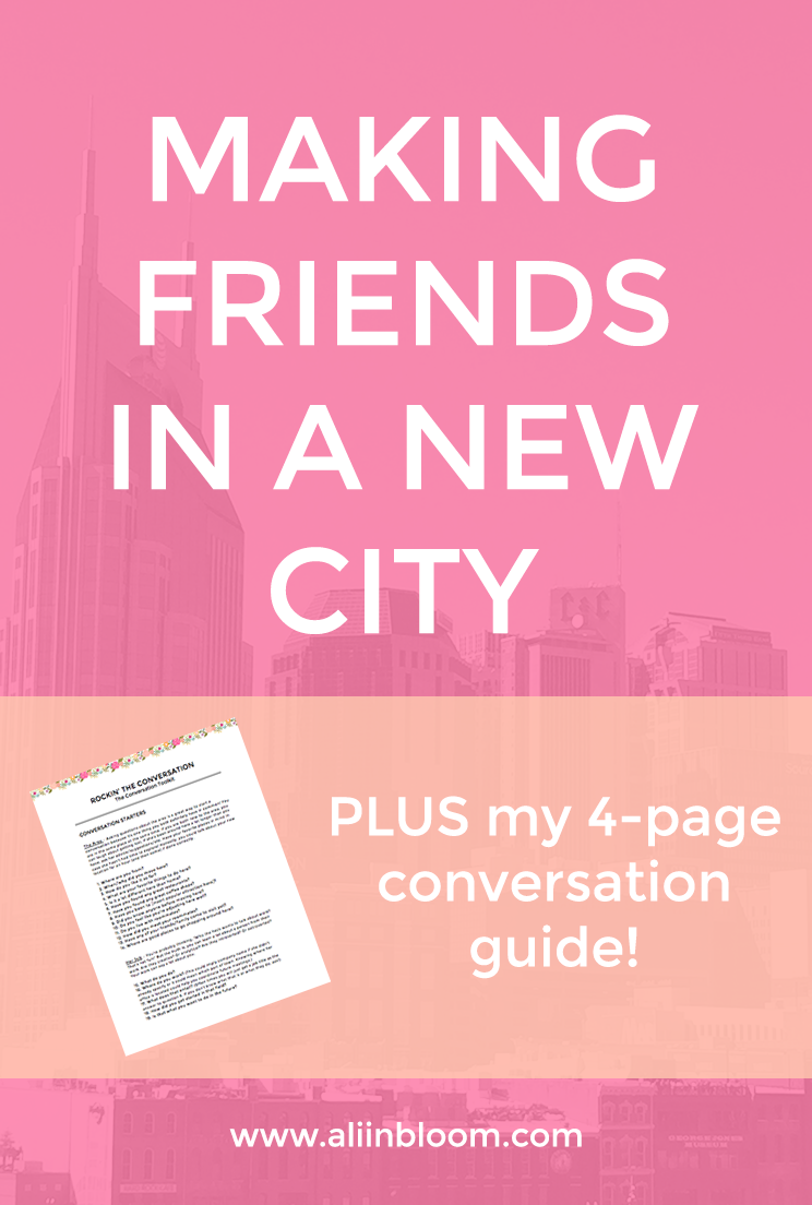 Make Friends in a New City QUICKLY! My tried and true tips and tricks to making connections after a big move.