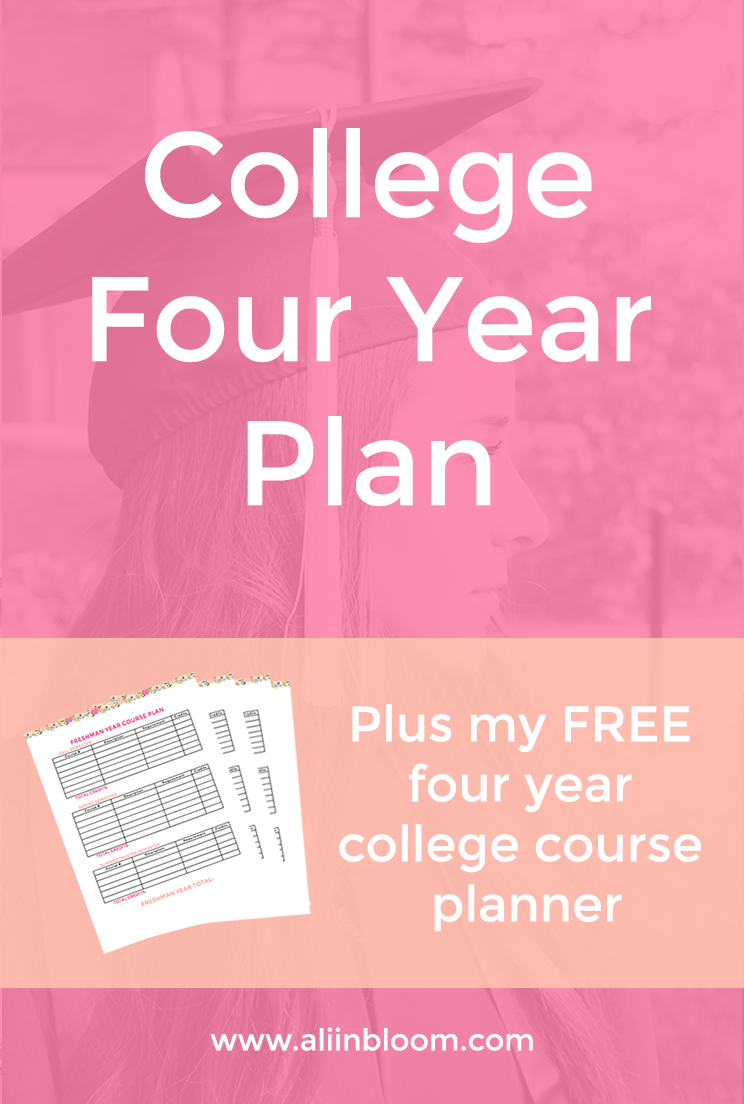 College Four Year Plan